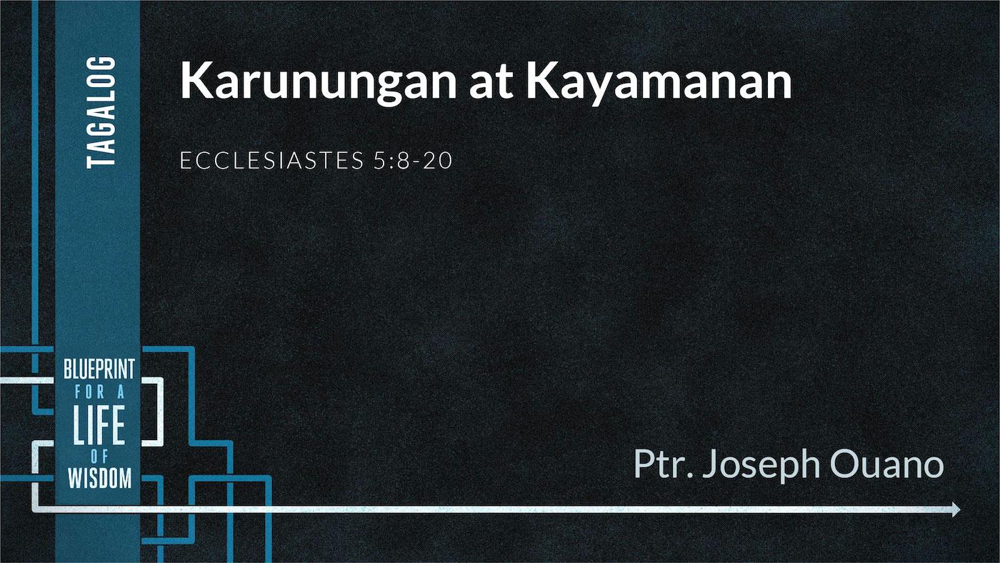 Karunungan at Kayamanan